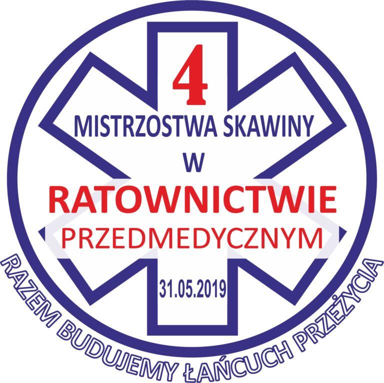 logo czwartych mistrzostw skawiny w ratownictwie przedmedycznym